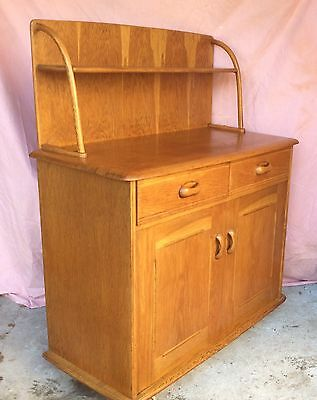 PRIORY Vintage Retro Art Deco Dresser Sideboard Cabinet Ercol style