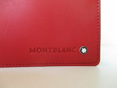 Montblanc Diaries And Note Red Leather Organizer Medium  New In Box 101792