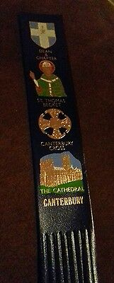 Leather bookmark. Canterbury. Four images.