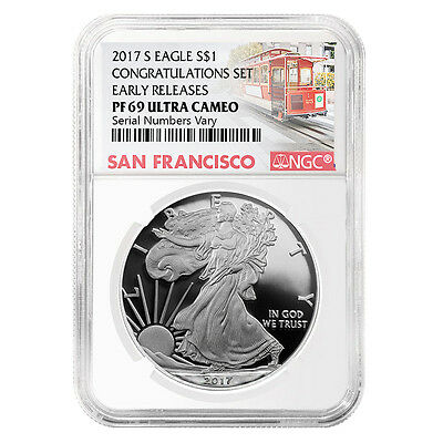 2017-S 1 oz Proof Silver American Eagle NGC PF 69 UCAM Early Releases (Trolley L