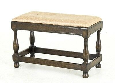 B522 Antique Scottish Oak Foot Stool, Bench with Lift Out Seat