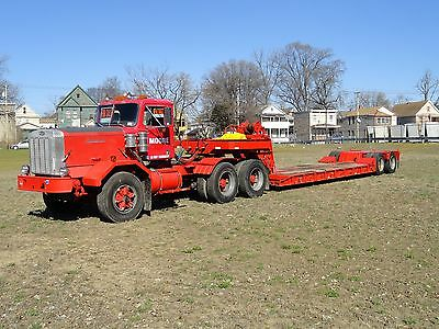 Autocar 1982 Tractor Model DC and Rodgers 76' Detachable 35 Ton Low Boy Trailer