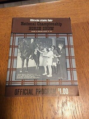Illinois State Fair National Championship Horse Show Program 8/30-8/20 1970