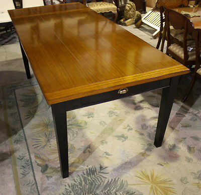 High end 9'  traditional harvest style dining table seats 6-8 people