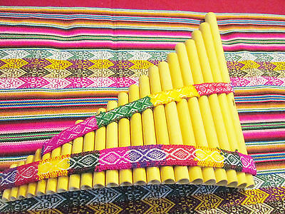 Professional  Panflute 22  pipes Handmade in Peru -- See Video