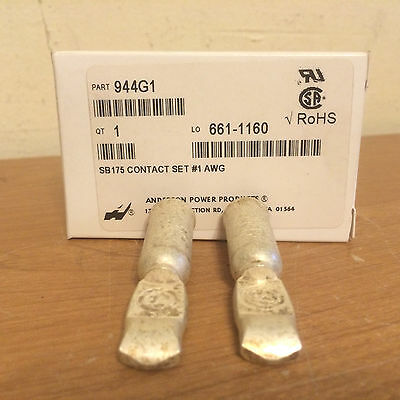 NIB Anderson Power Products 944G1 SB175 Contact Set #1 AWG