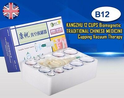 KANGZHU 12 CUPS Biomagnetic TRADITIONAL CHINESE MEDICINE Cupping Vacuum Therapy