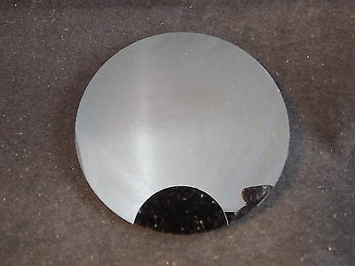 3 inch diameter HDPE Solid Black Disk 1/4 inch thick ebony puck with polished to