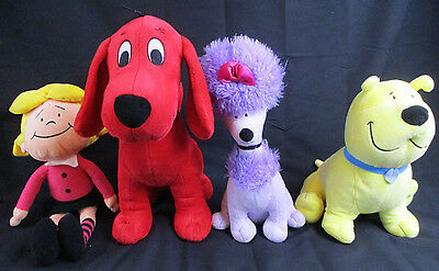 Kohl's Clifford The Big Red Dog Emily Cleo T-bone Plush Lot of 4