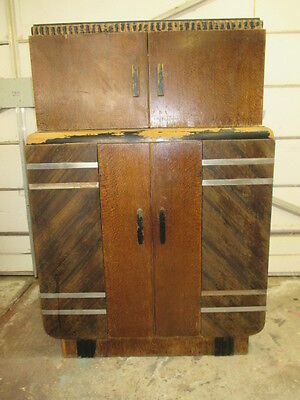 VINTAGE ART DECO 1930s RADIOBAR ORIGINAL THE KIND WITHOUT THE RADIO NEEDS RESTO