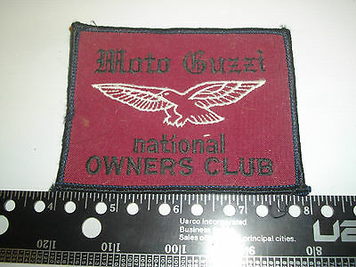 MOTO GUZZI National Owners Club Embroidered Cloth PATCH Motorcycle Biker British