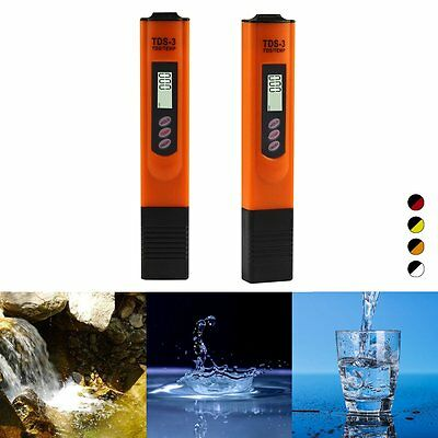 TDS Meter Digital LCD Tester Water Hardness Quality Filter Purity Pen Stick Tool