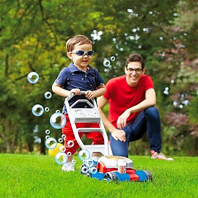 Bubble Lawn Mower Toy Kids Outdoor Pretend Play Toddler Garden Fun Fisher Price