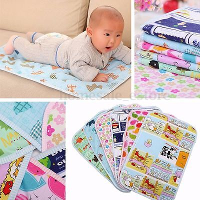 Waterproof Changing Diaper Pad Cotton Washable Infant Baby Urine Mat Nappy Bed B