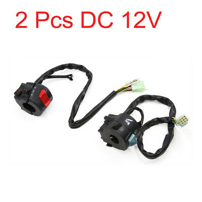 2 Pcs DC 12V Motorcycle Scooter Handlebar Horn Turn Signal Start Switch for CG
