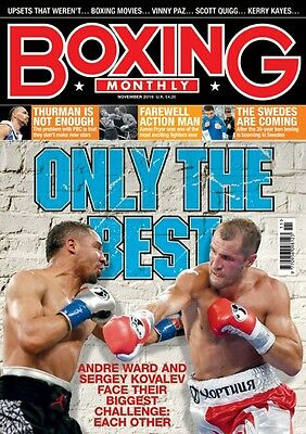 Andre Ward Sergey Kovalev Vinny Paz Boxing Monthly November 2016