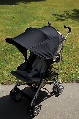 BEST Pram Pushchair Stroller Shades Sun Shade Canopy Cover Universal BLACK NEW