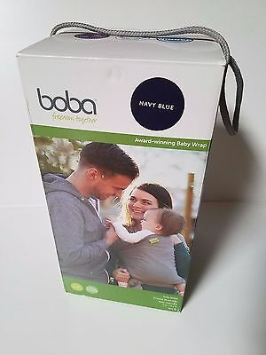 Boba infant baby wrap carrier Navy Blue 7-35lbs NEW NIB