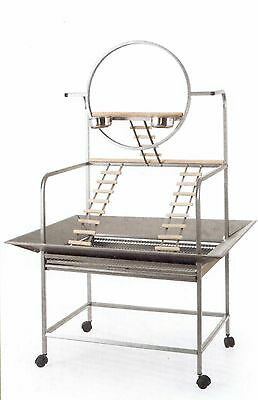 Brand New * Large Bird Parrot Playpen Gym Toy Stand On Wheels * Ed809