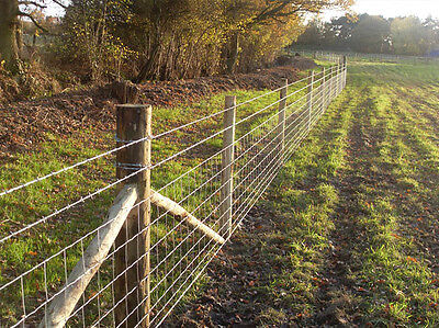 25m of C8/80/15 wire Stock Fence for dog proofing sheep cattle pigs - new size
