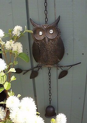 Owl Wind Chime-Rustic- Garden/ Home Decoration -Bronze Colour