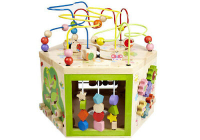 NEW 7 in 1 Garden Activity Cube - Sustainable Eco-Friendly Wooden Kids Toys
