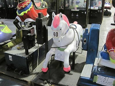 White Horse Coin Ride Kiddy Kiddie Amusement Collectible Antique