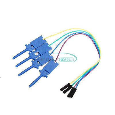 4PCS Test Clamp Wire Hook Test Clip for Logic Analyzer Electronic Components US