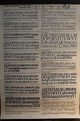 Vintage graphic typography poster mid century modernist