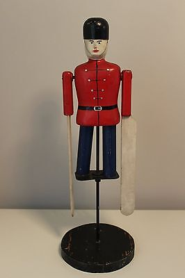Vintage Redcoats soldier whirlygig early to mid century modernist folk art
