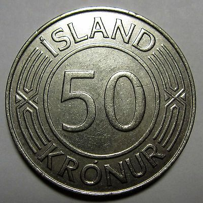 #26 Iceland 1968 50 Kronur Circulated coin