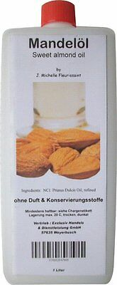 Mandelöl - reines Mandelöl - Massageoil - Prunus Dulcis Oil, sweet amond oil,1 L