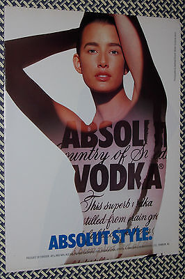 Vintage 1988 ABSOLUT ADs, Stephen Sprouse, Marc Jacobs, Matthew Rolston