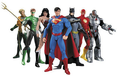 DC SUPERHELDEN JUSTICE LEAGUE figuren Batman, Superman Flash Aquaman Wonder