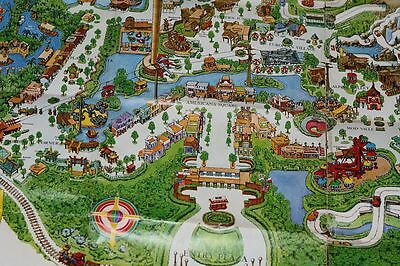 1968 AstroWorld Park Map HARD TO FIND