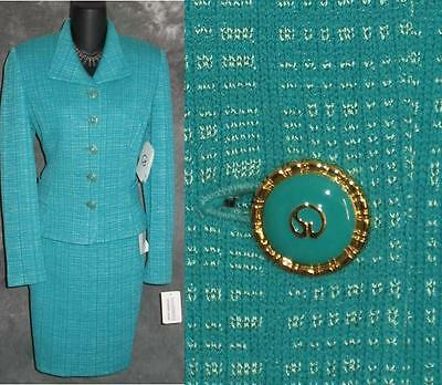 NWT St John collection 2pc knit jacket skirt suit 6 NEW