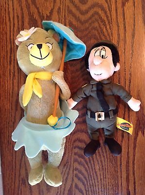 "Hanna-Barbera Yogi Bear 11"" Plush CINDY Umbrella Stuffed 7"" Park Ranger Smith"