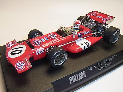 Policar Slot.it March 701 Spa 1970 Chris Amon CAR04a Autorennbahn 1:32 Slotcar