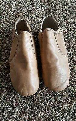 BALERA Slip on Leather Jazz Dance Shoes, Model B80, Size 4