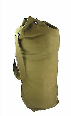 0880ec3db5ae14 Large TB05 Olive Green Canvas Army Navy Kit Bag Holdall Duffle Bag 34