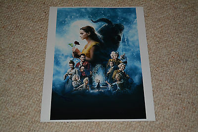 LARA DECARO signed Autogramm 20x25 cm In Person BEAUTY & THE BEAST Emma Watson
