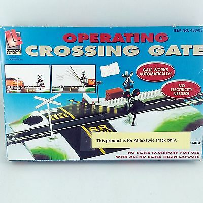 HO Scale Railroad Crossing Gate Life-like Trains For Atlas-Style Track 433-8314