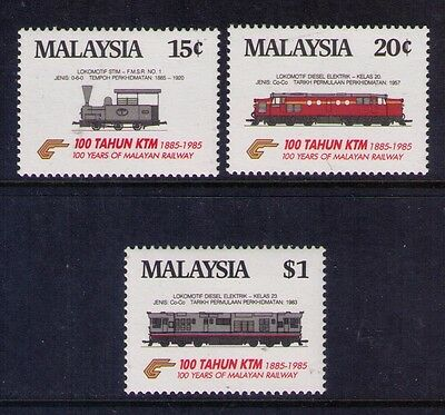 MALAYISIA STAMPS,SC# 301-303 Cpl. MNH TRAINS