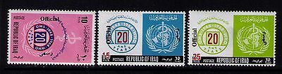 Iraq Official Stamps 1968 Sc# O222-224 Mh Cpl.set Thin