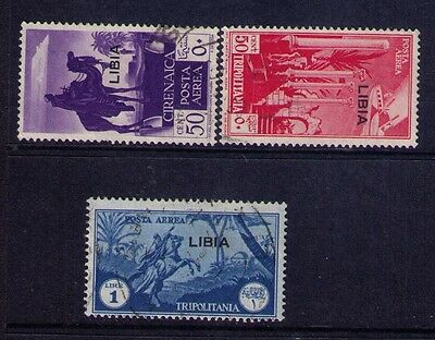 LIBYA Ovpt on Italian Stams Sc#C25-27 Clp.Used Set
