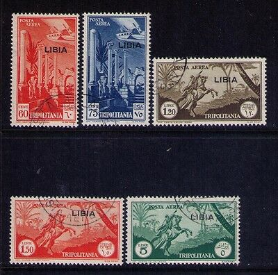 LIBYA Airmail Stams Sc#C45;46;48;48;50 Used Cat.$485