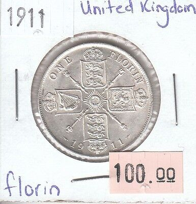 United Kingdom / Great Britain Florin 1911 Silver