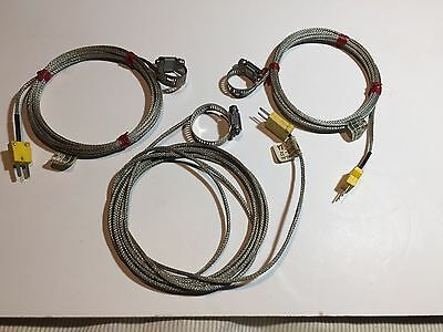 "Hose clamp surface thermocouples. K type. 3 pcs. 1.0"",1.0"",1.5"".  Free Shipping."