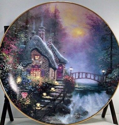 Thomas Kinkade Collectible Plate Knowles Falbrooke Cottage Collectors Plate New