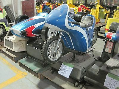 Blue Motorcycle Racing Cafe Racer coin operated Kiddy Kiddie Ride Amusement
